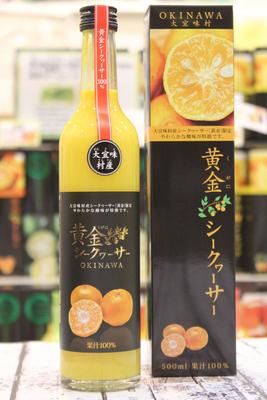 沖縄県産黄金(くがに)シークヮーサージュース(100%) 500ml