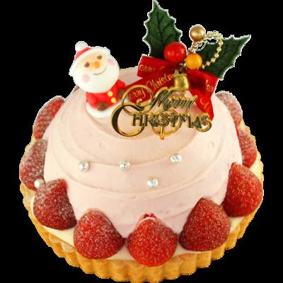 いちごとクリームチーズのクリスマスドーム 15cm