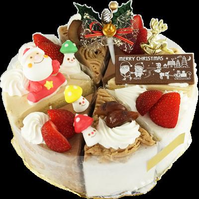 クリスマス アソートケーキ 18cm