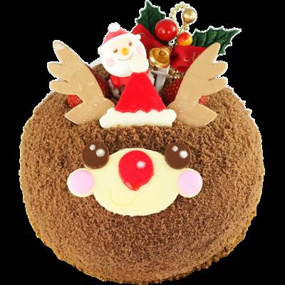 かわいいトナカイケーキ 15cm