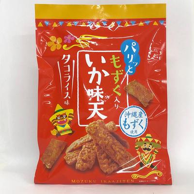 """""""パリッと"""" もずく入りいか味天 タコライス味"""