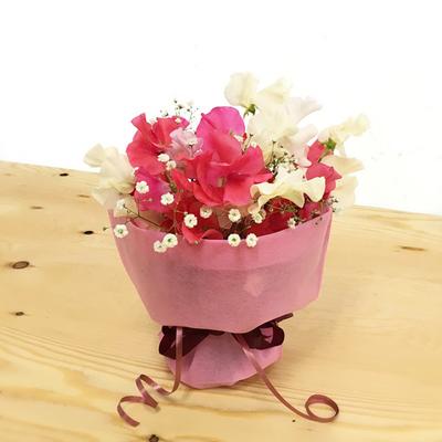【花束】約15本「そのまま飾れるミニブーケ カスミソウ」