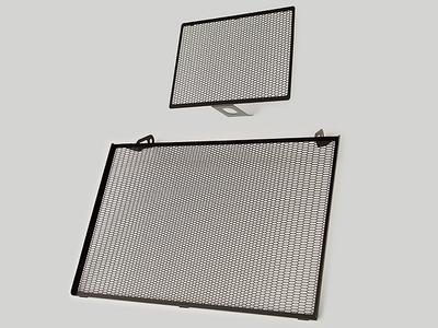 オイルクーラー&ラジエターコアガードセット DUCATI MULTISTRADA 1200 -Y14 (ブラックカチオン)