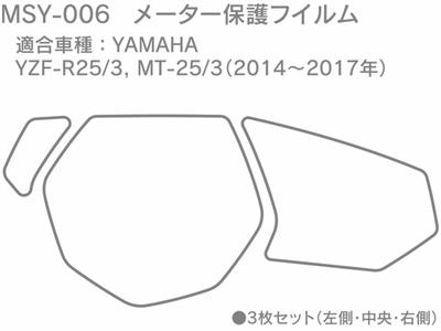 メーター保護フィルム YAMAHA YZF R25/3, MT-25/3用