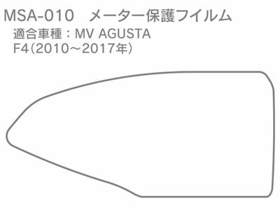 メーター保護フィルム MV AGUSTA F4(2010~2017年)用