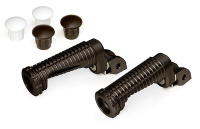 アルミステップ MC-8Pキット21mm 125/200/250/390 DUKE (ブラックアルマイト)