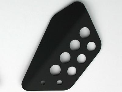 SBK ヒールガード・左側 DUCATI Monster (ブラックアルマイト)