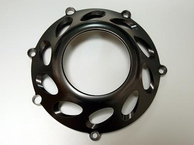 SBKアルミクラッチカバー RACING H10 TYPE (ブラックアルマイト)