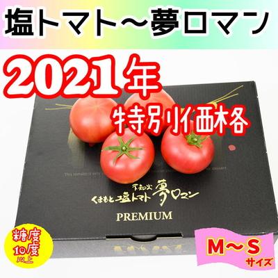 ★2021年くまもと塩トマト ~夢ロマン~ プレミアム 1kg / M~S (12~18玉)