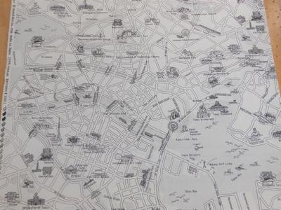 TOKYO MAP /  BLACK-WHITE