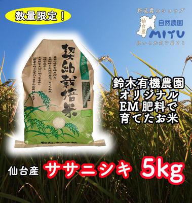 仙台産 鈴木有機農園 ささにしき 5kg