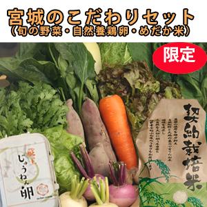 宮城のこだわりセット(米・野菜・卵)