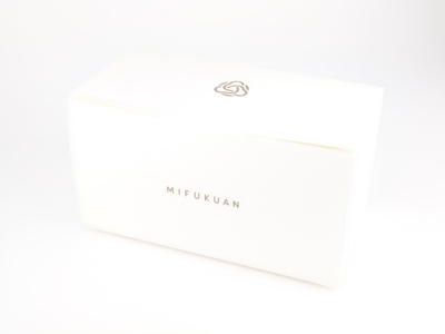 ギフトBOX白 cubeタイプのビン2本が入る箱