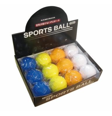 PU カラー野球ボール 12Pボックス
