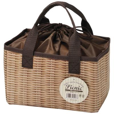 【ケース販売】【158円×120入】ピクニック 保冷温スクエアランチバッグ