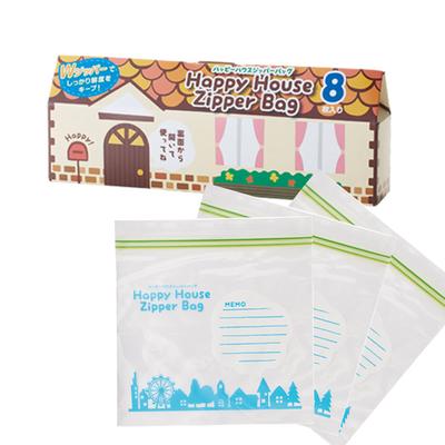 【ケース販売】【88円(税抜)×200入】ハッピーハウス ジッパーバッグ