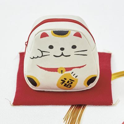 【ケース販売】【158円×240入】飾れちゃう!招き猫ポーチ