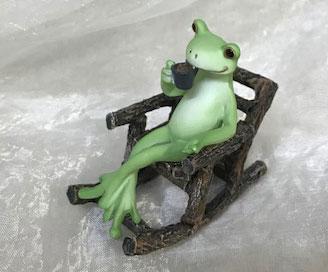 コポー 珈琲を飲むカエル
