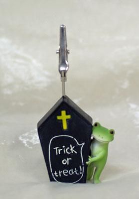 コポー クリップ ハロウィン棺おけからカエル