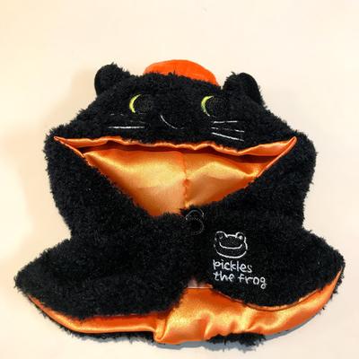 ピクルス ハロウィン 黒猫ポンチョ