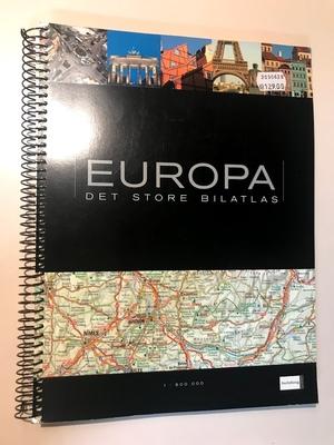 EUROPA  DET STORE BILATLAS 車のためのヨーロッパ地図