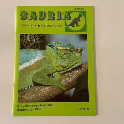 SAURIA Terraristik&Herpetologie September/1999