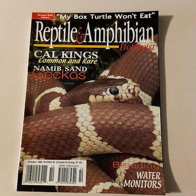 REPTILE AND AMPHIBIAN HOBBYIST 10/1999