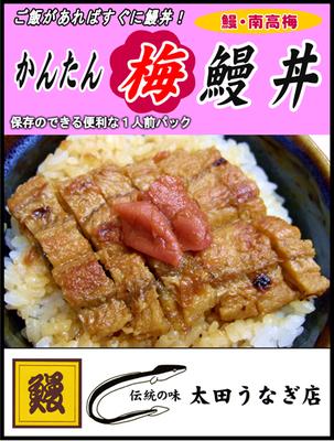かんたん梅鰻丼(1人前)