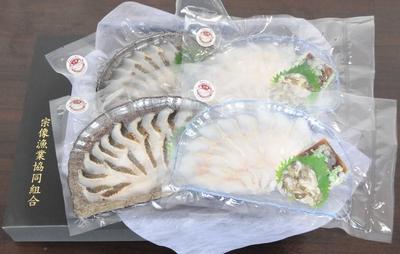 鐘崎産あなごの刺身と炙りセット(各2パック/冷凍)