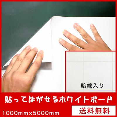 吸着式ホワイトボード(暗線入り) 1000mm×5000mm