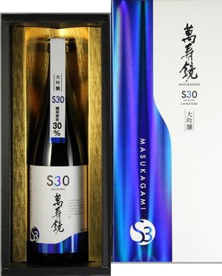 日本酒 萬寿鏡 S30 エスサンマル(化粧箱入)720ml
