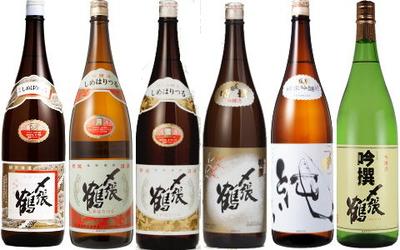 日本酒 〆張鶴 飲み比べセット 1800ml 6本