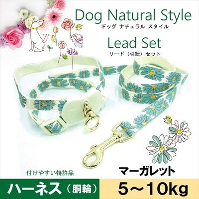 お花のハーネス&リードセット S マーガレット 5~10kgの小型犬用 送料込み(宅急便コンパクト)
