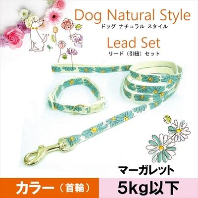 お花の首輪&リードセット SS マーガレット 5kg以下の超小型犬用 送料込み(メール便)