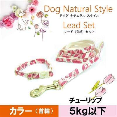 お花の首輪&リードセット SS チューリップ 5kg以下の超小型犬用 送料込み(メール便)