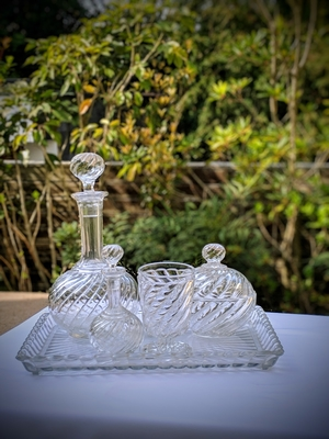Antique Baccarat Decanter set