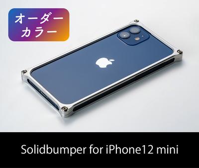 [オーダーカラー]ソリッドバンパー for iPhone 12 mini