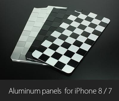 アルミパネル市松 iPhone8/7用ソリッドバンパー対応