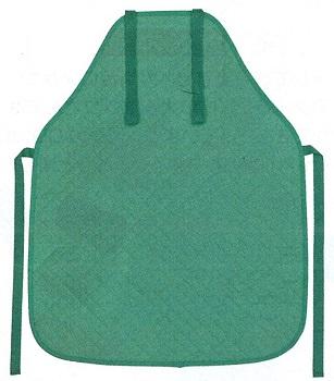 ベースエプロン(ポケットなし)緑
