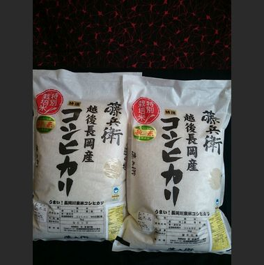 越後長岡産 藤兵衛コシヒカリ 平成30年度産(玄米) 10kg(5kg×2袋)