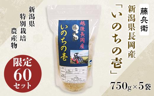 新潟県長岡産「いのちの壱」750g×5袋
