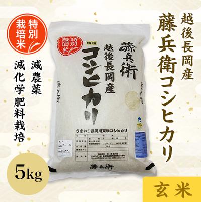 令和2年度産 越後長岡産 藤兵衛コシヒカリ(玄米)5kg