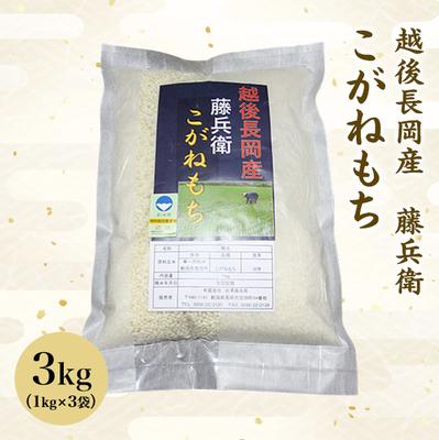 【新米】越後長岡産 藤兵衛 こがねもち 令和元年度産 3kg(1kg×3袋)