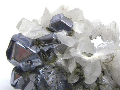 方鉛鉱と方解石・Galena with Calcite