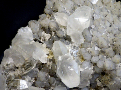 JKM19 方解石と重晶石と水晶・Calcite&Barite&Quartz 秋田県宮田又鉱山