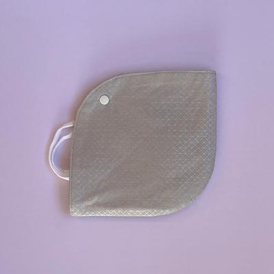 KIKU fabrics マスクケース(シルバー幾何学模様)