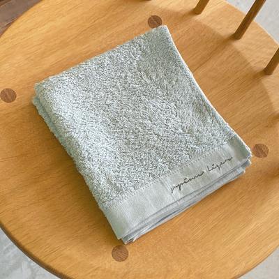 軽くて柔らか・すぐ乾く オーガニックコットンタオル | スーピマレジェ(アイスグレー)(天衣無縫)S.ウォッシュタオル(34cm×40cm)