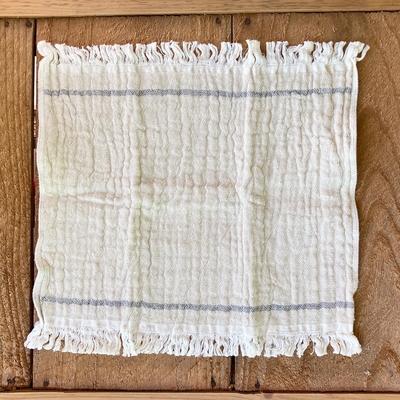 速乾性&ポケットサイズ・オーガニックコットンタオル(天衣無縫) | ポケットタオル四重ガーゼ ライン(28cm×28cm)