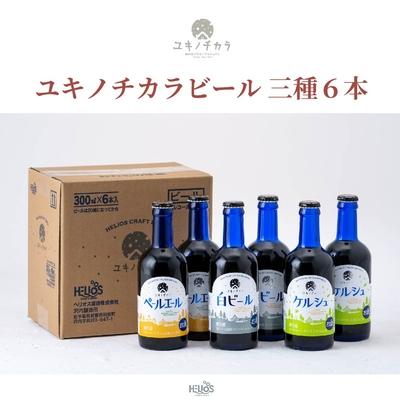 【6本セット】ユキノチカラビール三種