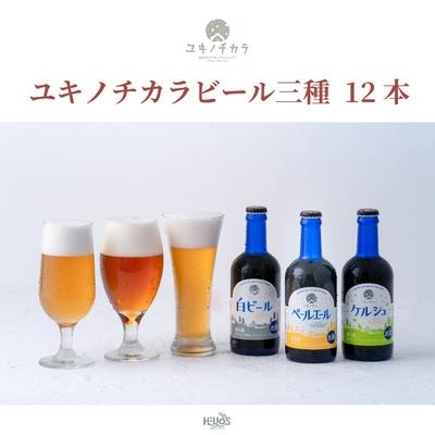 【12本セット】ユキノチカラビール三種